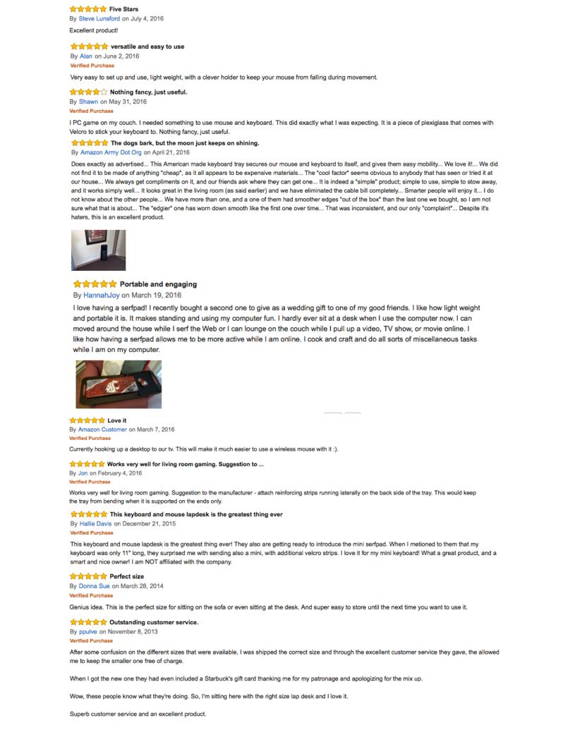 SERFPAD Reviews